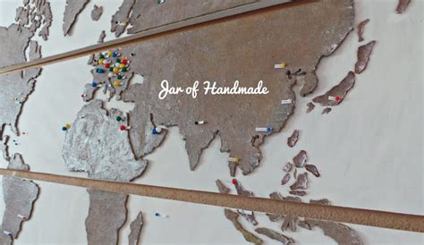 diy world travel map jar of handmade diy personalized world map for all