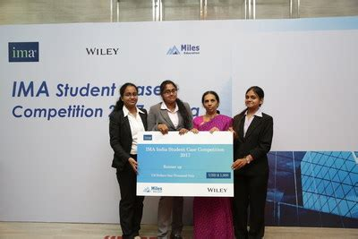 Study Competitions For Mba Students India by Ima Announces Student Competition Winners In India