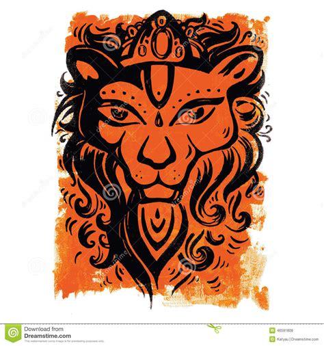 tribal pattern lion lion head ethnic pattern stock vector image 46591808