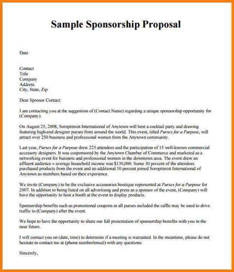 how to write a sponsorship template sponsorship