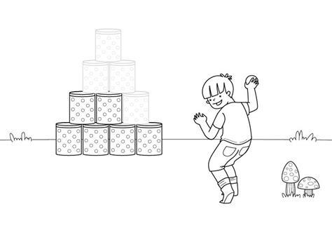 dibujos niños jugando para imprimir juego infantil dibujo para colorear e imprimir