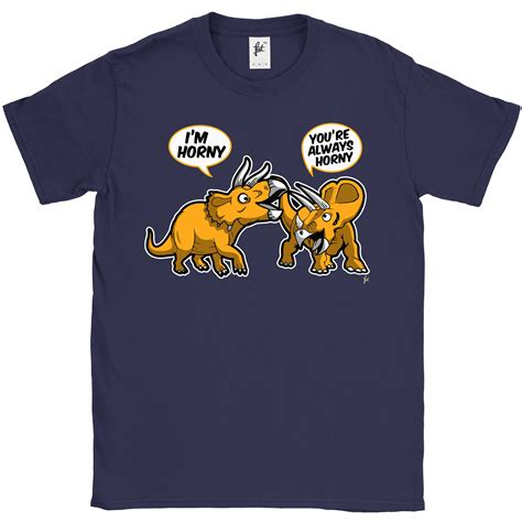 Pair T Shirts Always Pair Of Horned Triceratops Dinosaurs Mens T
