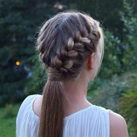 hair braided into pony tail 3 festive braided hairstyles