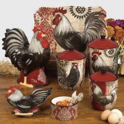 rooster kitchen decorations www freshinterior me 4 pc casa vero ceramic classic rooster canister set cookie