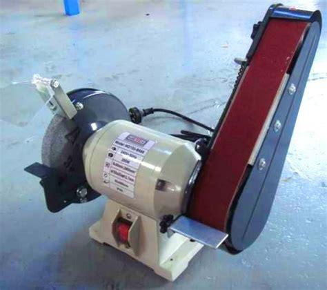 bench grinder with sanding belt metex 150mm bench grinder linisher sander sanding grinding