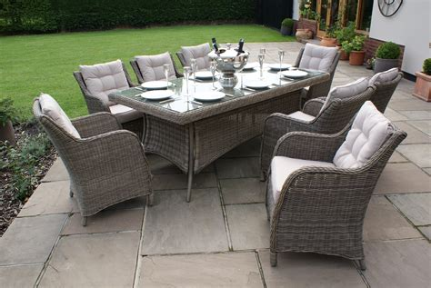 patio furniture seats 8 winchester 8 seat rectangle dining set with square chairs