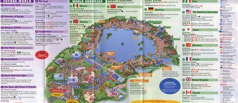 printable map epcot theme park brochures walt disney world epcot theme park