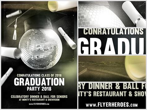 graduation flyer template graduation flyer template flyerheroes