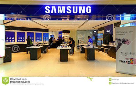 samsung electronics store hong kong editorial image