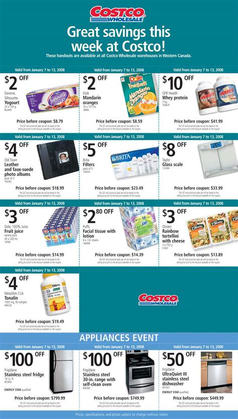 costco canada flyer coupons jan    canadian