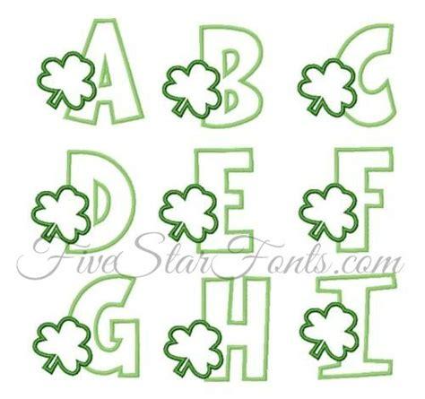 free printable applique fonts shamrock applique font