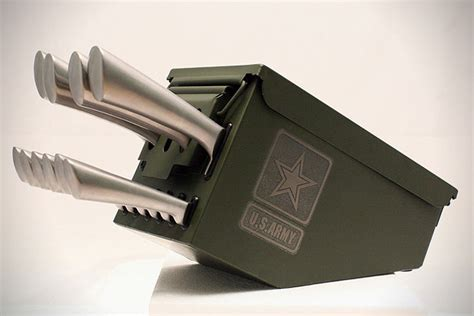 Delta Echo Ammo Can Knife Set   HiConsumption