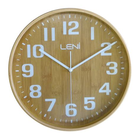 wooden wall clock buy leni bamboo wooden wall clock small wallet online