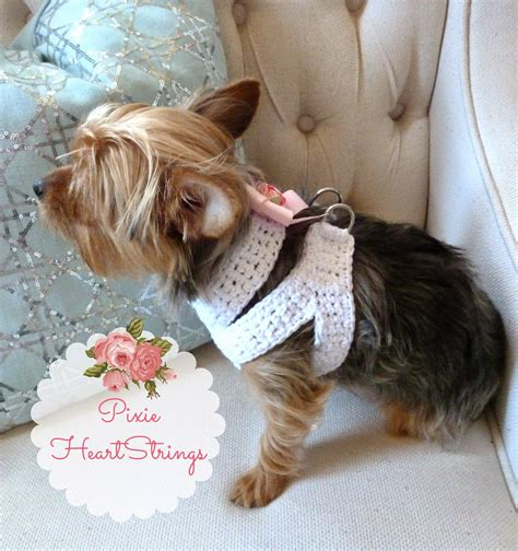 how to put a harness on a yorkie pixie heartstrings a crocheted harness for your tiny free pattern