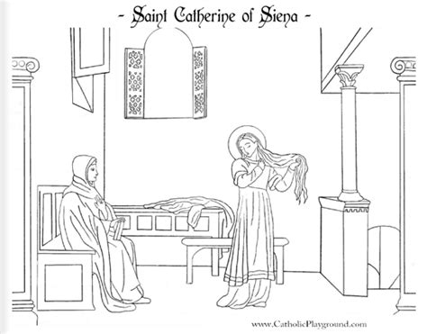 St Catherine Of Siena Coloring Page catherine of siena coloring page april 29th catholic playground