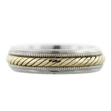 Rope Wedding Bands 14k two tone gold rope design mens wedding band boca raton