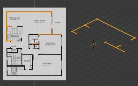 Blender 3d Tutorial Architecture | create a 3d floor plan model from an architectural