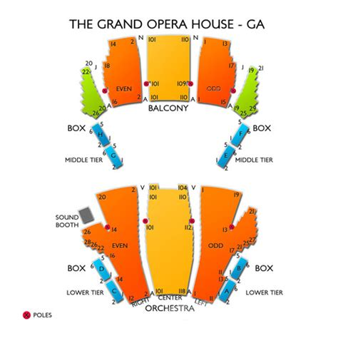 Grand Opera House Seating Plan Grand Opera House At Mercer Seating Chart Seats