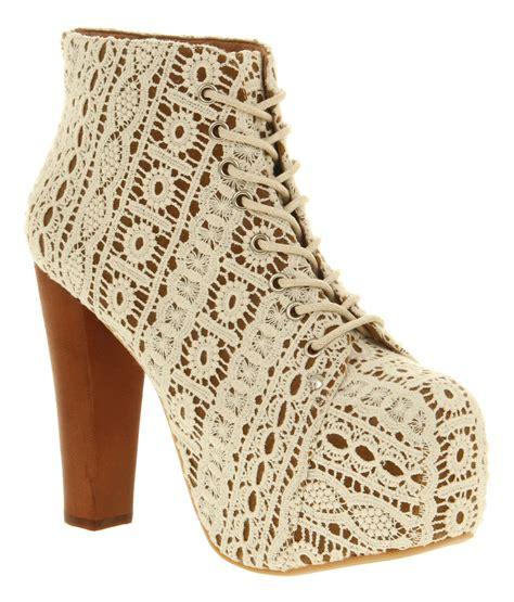 crochet ankle boots jeffrey cbell lita platform ankle boot white crochet in