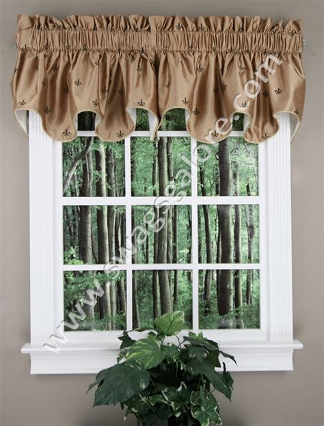 Fleur De Lis Kitchen Curtains Fleur De Lis Duchess Filler Valance Ellis Kitchen Valances