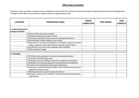 office moving checklist template 45 great moving checklists checklist for moving in out
