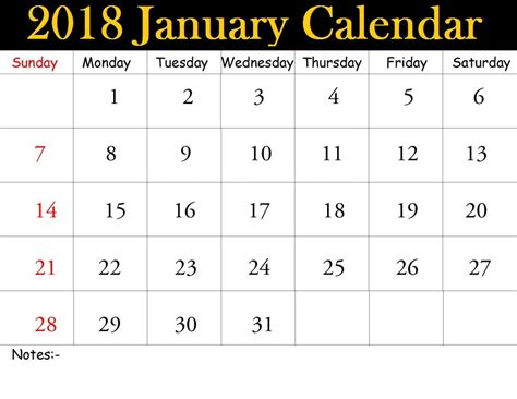 printable january 2018 calendar pdf january 2018 calendar pdf calendar template letter