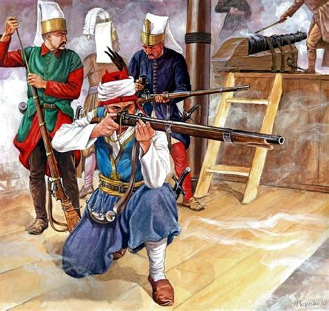 ottoman empire janissaries turkish janissaries embarked medieval warriors