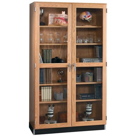 laboratory glassware storage cabinets wall storage cabinet with oak framed glass doors 48 quot w