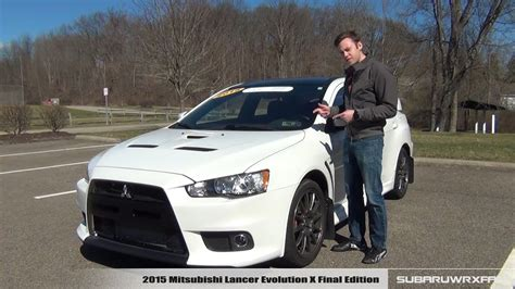 2015 mitsubishi lancer evolution x review 2015 mitsubishi lancer evolution x edition