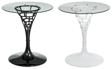 Plastic Bistro Table Sendero Bistro Table With Revolving Clear Tempered Glass Top Abs Plastic Ebay