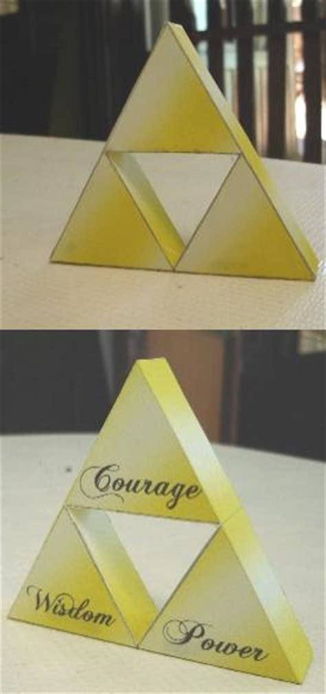 Triforce Papercraft - triforce papercraft finished by ryo007 on deviantart