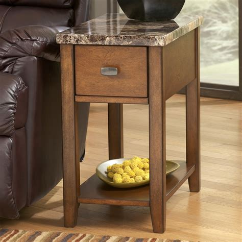 ashley furniture accent tables signature design by ashley breegin medium brown theo