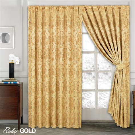 curtains and company luxury jacquard curtains fully lined ready made tape top