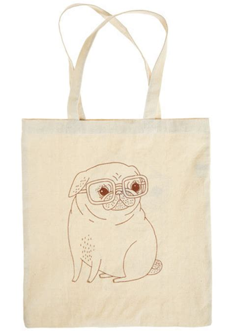 pug bags to buy pug tote bag from pretty lovely on storenvy