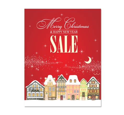 christmas sale poster template dlayouts graphic design blog
