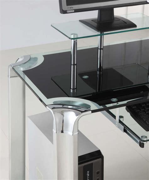 innovex glass computer desk hostgarcia throughout innovex