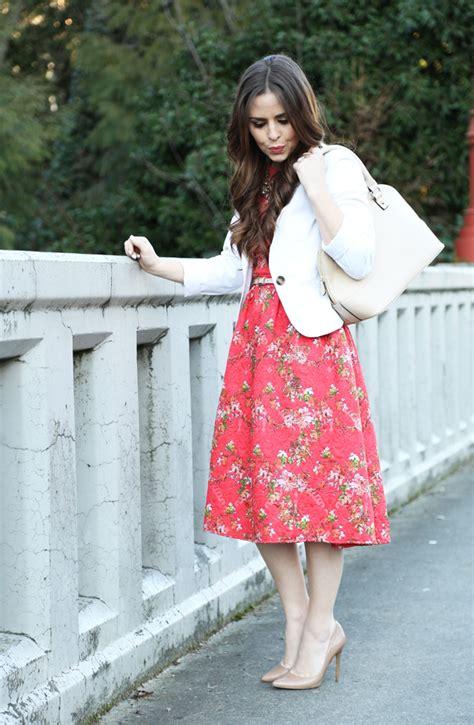 Maxi Blazer Flowery floral dress white blazer