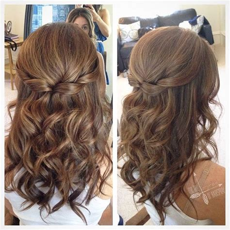 curly partial up how 25 best ideas about half up half down on pinterest prom