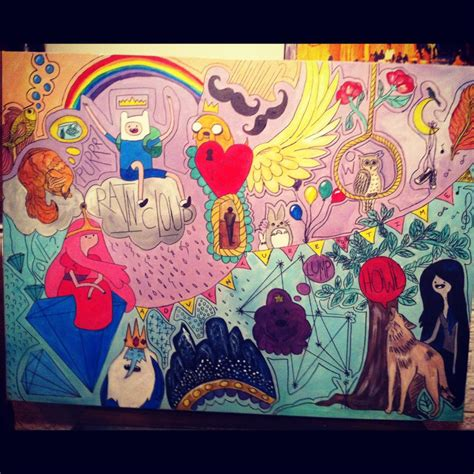 how to do doodle painting adventure time doodle painting by letsliedownwithlions on