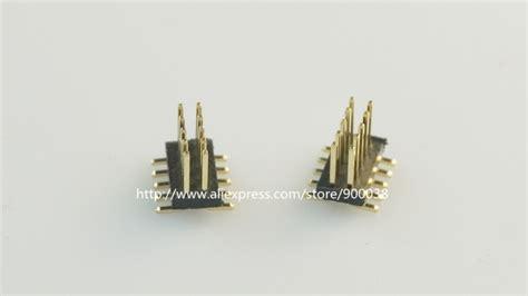 Pcb Header 5 Pin Molex 0022284050 10 pcs 2x5 p 10 pin 1 27 mm pcb header dual row pcb smt pin headers gold