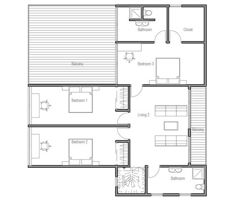 new house plans 2013 contemporary home plan with three bedroom large balcony