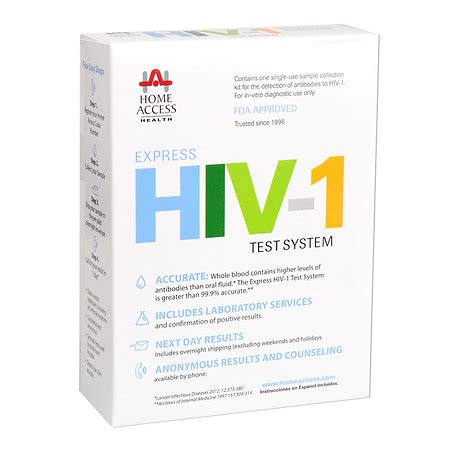 At Home Test by Home Access Express Hiv 1 Test System Walgreens