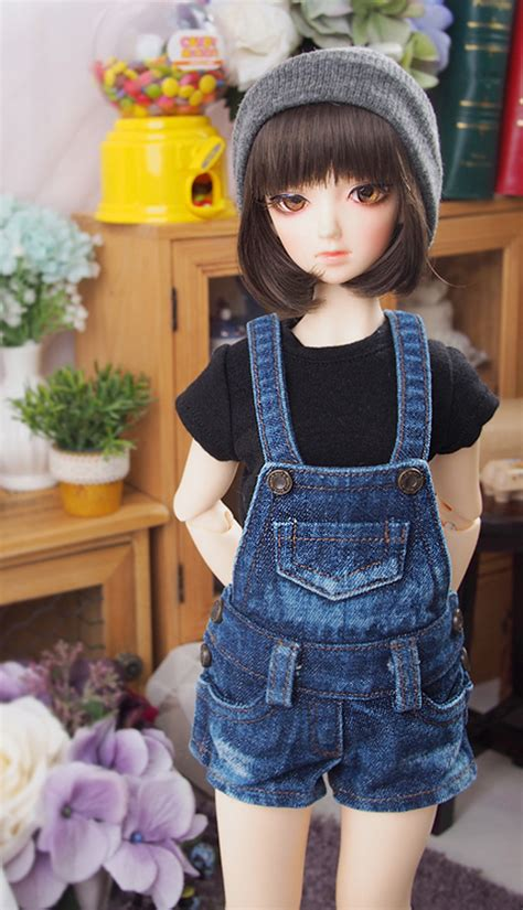 1 4 jointed doll clothes 1 4 bjd msd size clothes dress washing blue denim