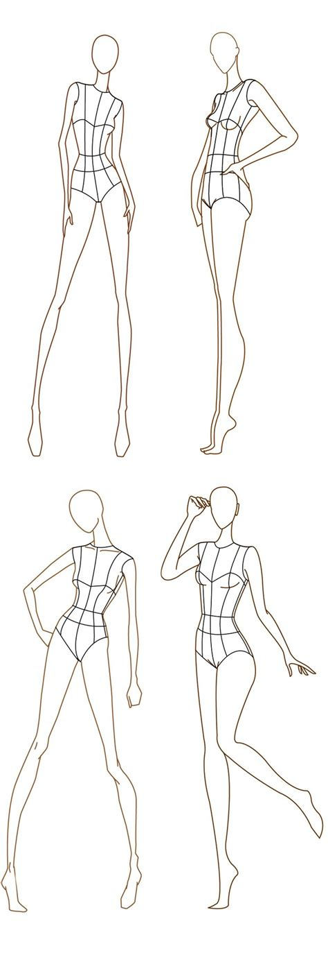 1000 Images About Fashion Illustration Templates On Pinterest Croquis Fashion Design Fashion Design Templates