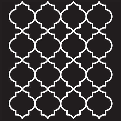 Folkart Moroccan Tile Painting Stencils 4377 The Home Depot Stencil Templates For Painting
