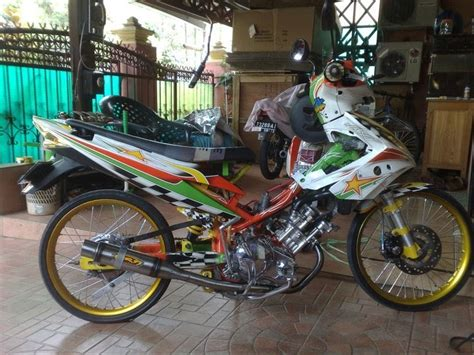 Cover Jupiter Mx Lama fashion modif motorcycle modified paint brush yamaha spark racing look modification