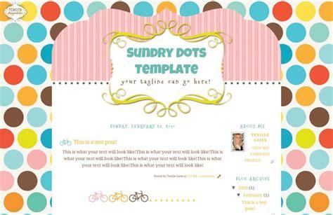 templates para blogger kawaii sundry dots the cutest blog on the block