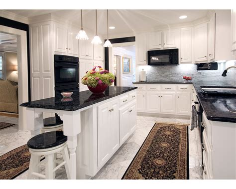 Kitchen Kitchen Backsplash Ideas Black Granite Kitchens With White Cabinets And Black Countertops