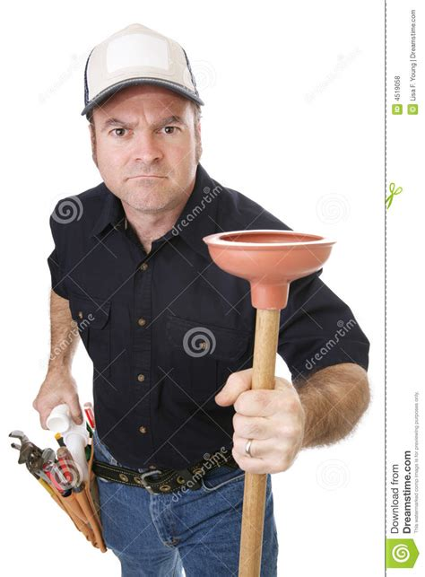 plumber strong tough royalty free stock photos image
