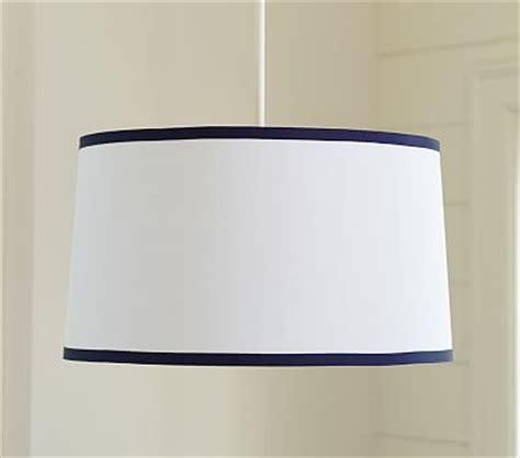 pottery barn flush mount light white navy drum flushmount light pottery barn kids